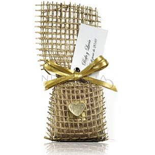 Saquito yute. Detalles de boda, obsequios invitados. Saquitos presentaciones envoltorios regalos.