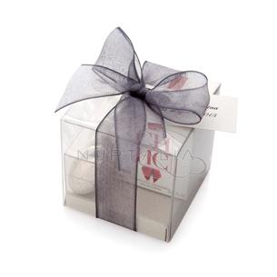 Caja cuadrada para detalles de boda trasparente obsequios invitados. Cajitas presentaciones envoltorios regalos relieve textura estampado