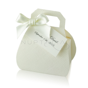 Caja bolso blanca detalles de boda originales obsequios invitados cajitas envoltorios regalitos baratos