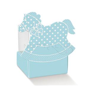 Caja caballito celeste elegante detalles de bautizo comunión obsequios invitados cajitas envoltorios regalitos baratos