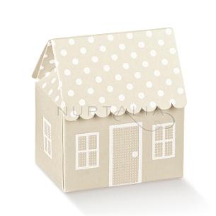 Caja casita elegante detalles de boda bautizo comunión obsequios invitados cajitas envoltorios regalitos baratos