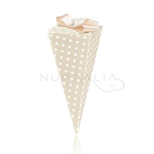 Caja cono elegante detalles de boda bautizo comunión obsequios invitados cajitas envoltorios regalitos baratos