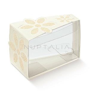 Caja triangular porción pastel original detalles de boda obsequios invitados cajitas envoltorios regalitos baratos