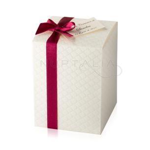 caja cuadrada acolchada alta detalles de boda comunion regalitos invitados originales