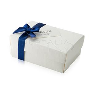 caja regalitos hombres blanca invitados boda