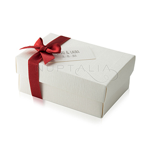 Cajita blanca regalos bodas