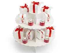 Présentoir cadeaux invités ronde 2 étages