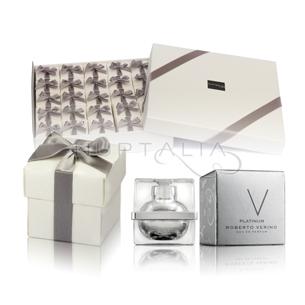Pack 25 perfumes roberto Verino W Platinum + 25 cajitas lazo en raso