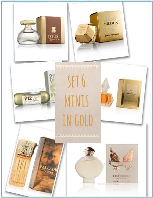 set mini perfumes oro