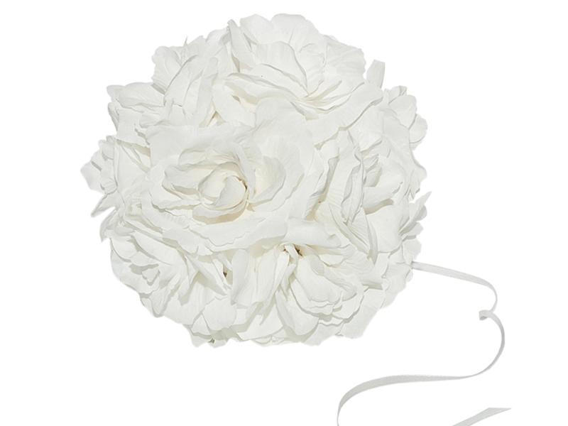 decoracion bodas bola flores artificiales tela centros mesa flores artificiales DIY sala banquete photocall
