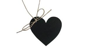 marcasitios originales corazón pizarra boda