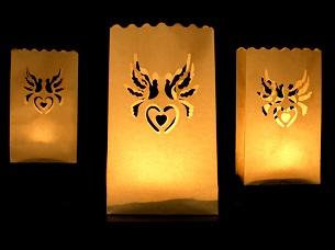decoración bodas bola farolillo bolsas papel velas decoración jardín bodas