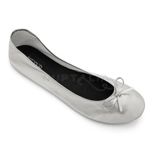 Bailarinas enrollables oro zapatos baile detalle invitados enrolladas