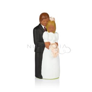 Figura pastel novios de pie decoración pastel boda recordatorio boda regalo cake topper