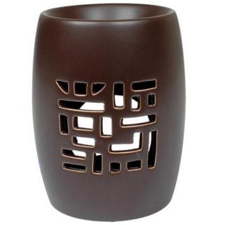 brule parfum ceramique treillis brun