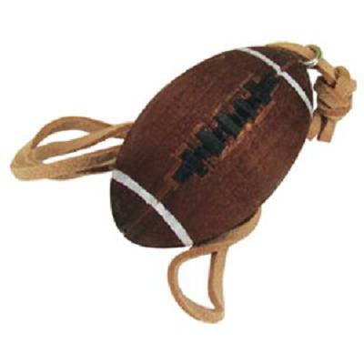 Ballon rugby bois vanille