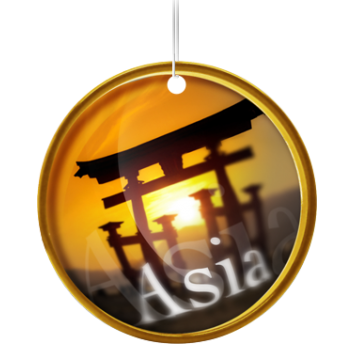 Desodorisant Voiture Continents Asia
