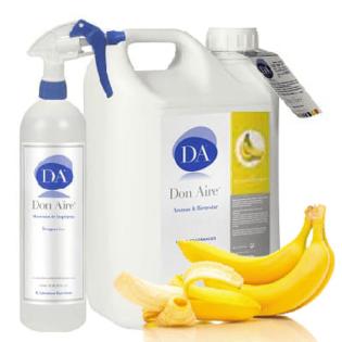 Parfum d'ambiance Spray Banane Tropicana 5 litres.