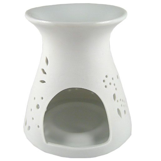 brule parfum ceramique rond fleurs