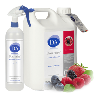 Parfum d'ambiance Spray Framboise 5 litres.