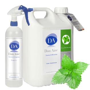 Parfum d'ambiance Spray Menthe Verte 5 litres.