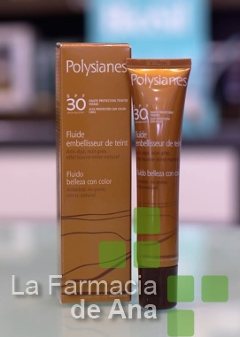 polysianes, fluido, embellecedor, color, spf30