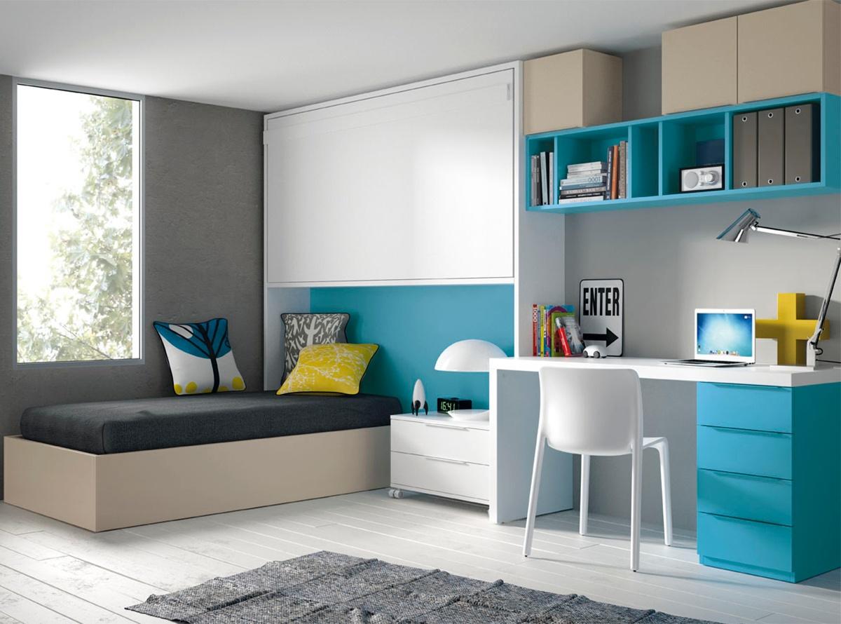 Dormitorio atreyu habitaciones juveniles muebles la for Habitaciones juveniles abatibles