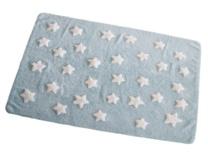 Azul con estrellas blancas