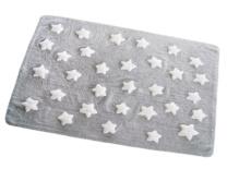 Gris con estrellas blancas