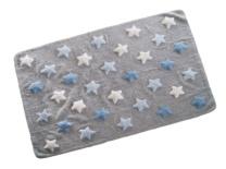Gris con estrellas azules