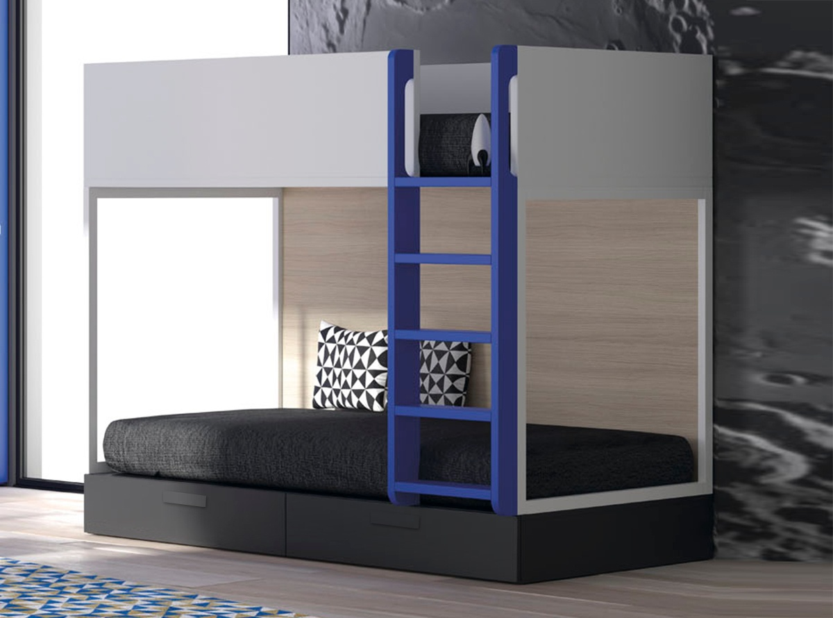 Litera gmork dormitorios juveniles muebles la fabrica - Dormitorios juveniles mallorca ...