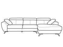 Chaise longue visto de frente derecha