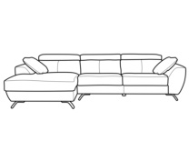 Chaise longue visto de frente izquierda