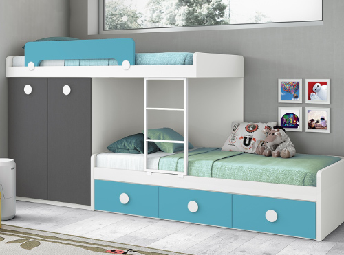 Dormitorios y habitaciones juveniles muebles la f brica - Habitaciones modulares juveniles ...