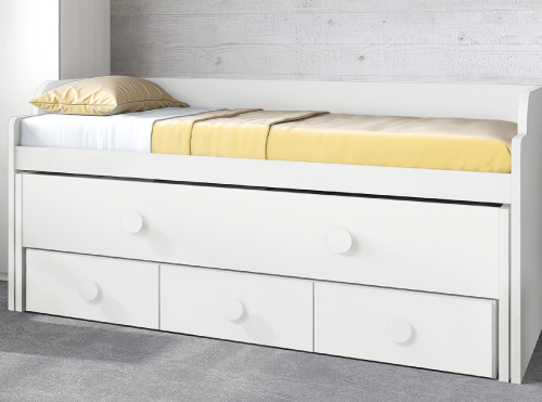 Fabric sofas for Habitaciones juveniles 3 camas
