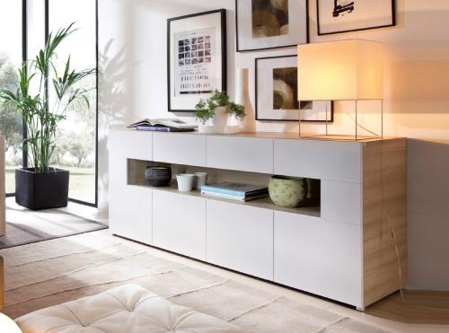 Muebles de salon y salones modernos muebles la f brica for Vitrinas modernas para salon