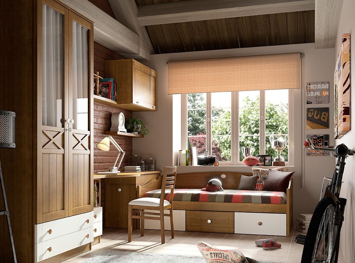Dormitorio mirlo habitaciones juveniles muebles la f brica for Dormitorio blanco y madera