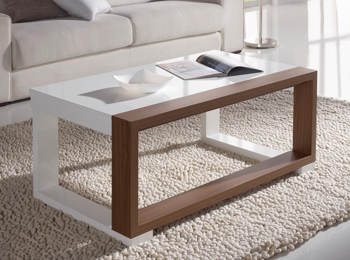 mesa de centro nogal