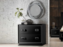 Negro con detalles en plata