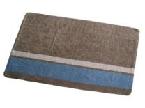 Piedra con franja beige-azul