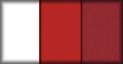 Blanco, rojo y tejido carmín