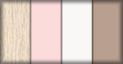 Roble, rosa, blanco y capuchino