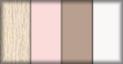 Roble, rosa, capuchino y blanco