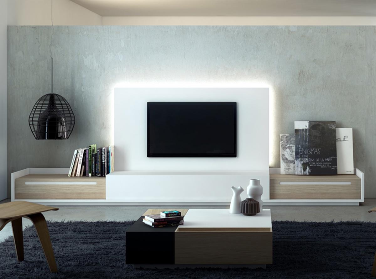Mueble de salon harald salones muebles la f brica for Muebles tv valencia