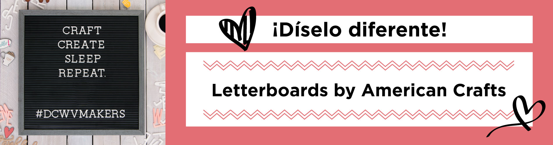 Tableros Letterboard by DCWV