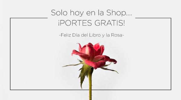 Día del libro y la rosa - portes gratis