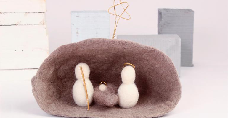 Cómo crear un cálido Belén con fieltro de lana natural