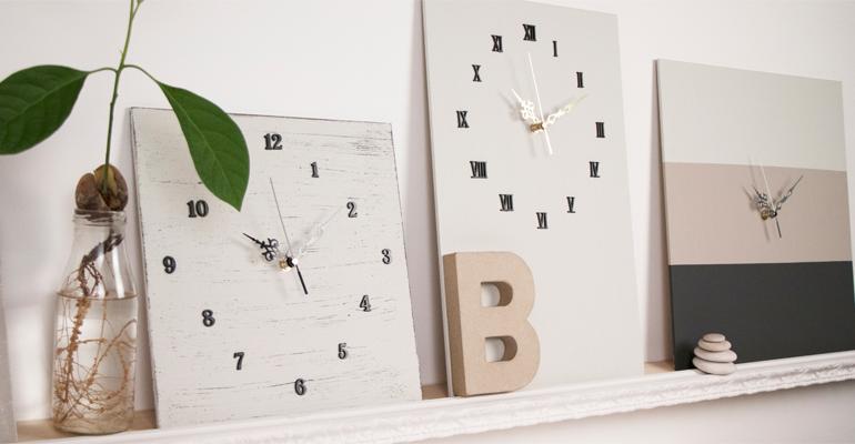 Agujas, manecillas, mecanismos de reloj, para crear relojes en casa y decorar el hogar.