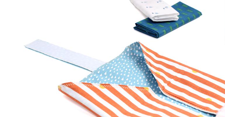 Cómo coser un portabocadillos ecológico con tela plastificada Dailylike