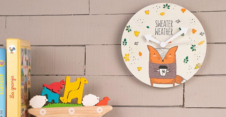 Aprendre cómo hacer un reloj para niños con servilletas y decoupage